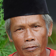 Portrait of a local man. Java, Indonesia.