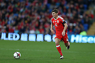 Ben Davies of Wales in action.Wales v Georgia , FIFA World Cup qualifier, European group D match at the Cardiff city Stadium in Cardiff on Sunday 9th October 2016. pic by Andrew Orchard, Andrew Orchard sports photography