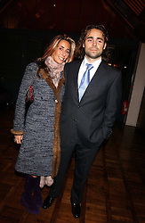JAMES ARCHER and TARA BERNERD at a party to celebrate the publication of 'E is for Eating' by Tom Parker Bowles held at Kensington Place, 201 Kensington Church Street, London W8 on 3rd November 2004.<br /><br />NON EXCLUSIVE - WORLD RIGHTS