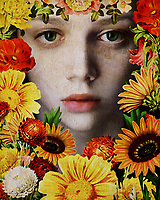 There is an otherworldly quality to this fine art release from Jan Keteleer. The first thing that commands our attention here would be the eyes of the young girl, surrounded by gorgeous flowers. There is always going to be something that can be said for the depth of a human being's eyes. One could even go so far as to say they represent a window into the soul. Certainly, that is something that you are going to keep in mind, as you also take in the summer flowers that surround her. This is a bold combination of flora and artistic color.<br /> -<br /> BUY THIS PRINT AT<br /> <br /> FINE ART AMERICA<br /> ENGLISH<br /> https://janke.pixels.com/featured/face-of-a-girl-surrounded-by-flowers-jan-keteleer.html<br /> <br /> <br /> WADM / OH MY PRINTS<br /> DUTCH / FRENCH / GERMAN<br /> https://www.werkaandemuur.nl/nl/shopwerk/Vrouw-van-de-wereld---Gezicht-van-een-meisje-omringd-door-bloemen/477986/134