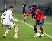 Jonathan Bamba of Lille during the UEFA Europa League, Group H football match between Lille OSC and AC Milan on November 26, 2020 at Pierre Mauroy stadium in Villeneuve-d'Ascq near Lille, France - Photo Jean Catuffe / ProSportsImages / DPPI