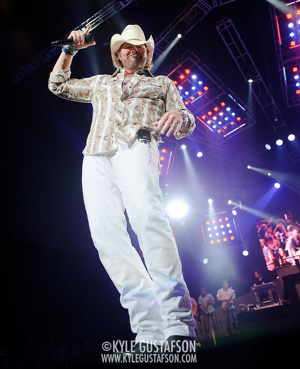 BRISTOW, VA - SEPTEMBER 11th, 2010: Toby Keith performs at Jiffy Lube Live as part of his American Ride tour.  (Photo by Kyle Gustafson/For The Washington Post)