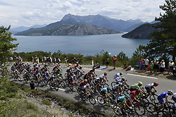 July 21, 2017 - Embrun / Salon-De-Provence, France - SALON-DE-PROVENCE, FRANCE - JULY 21 : Illustration picture of the peloton during stage 19 of the 104th edition of the 2017 Tour de France cycling race, a stage of 222.5 kms between Embrun and Salon-De-Provence on July 21, 2017 in Salon-De-Provence, France, 21/07/17 (Credit Image: © Panoramic via ZUMA Press)