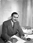 13th January 1955<br /> <br /> Fashion designer Raymond Kenna - special for Sunday Express.