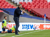 Oxford United's manager Karl Robinson gestures <br /> <br /> Photographer Andrew Kearns/CameraSport<br /> <br /> Sky Bet League One Play Off Final - Oxford United v Wycombe Wanderers - Monday July 13th 2020 - Wembley Stadium - London<br /> <br /> World Copyright © 2020 CameraSport. All rights reserved. 43 Linden Ave. Countesthorpe. Leicester. England. LE8 5PG - Tel: +44 (0) 116 277 4147 - admin@camerasport.com - www.camerasport.com