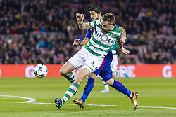December 5, 2017 - Barcelona, Catalonia, Spain - Sporting CP defender Sebastian Coates (4) and FC Barcelona forward Luis Suarez (9) during the match between FC Barcelona - Sporting CP, for the group stage, round 6 of the Champions League, held at Camp Nou Stadium on 5th December 2017 in Barcelona, Spain. (Credit Image: © NurPhoto via ZUMA Press)