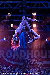 Flaunt girls dance troupe on the main stage of the Laconia Roadhouse during Laconia Motorcycle Week. NH, USA. Saturday, June 16, 2018. Photography ©2018 Michael Lichter.