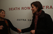 Sunny Jacobs and Gina Mckee. 'The Exonerated' Riverside Studios. 24 February 2006. ONE TIME USE ONLY - DO NOT ARCHIVE  © Copyright Photograph by Dafydd Jones 66 Stockwell Park Rd. London SW9 0DA Tel 020 7733 0108 www.dafjones.com