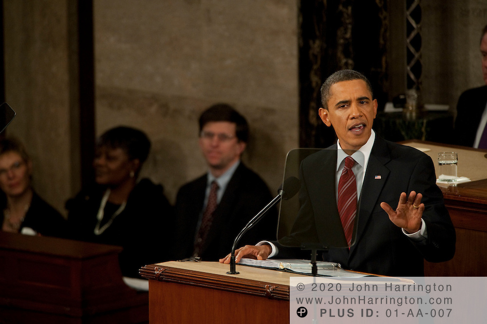 Coverage of President Barack Obama's first State of the Union address, Wednesday, January 27, 2009 in Washington, DC.