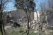 abandoned and wrecked farm house in South West France