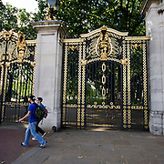 """The Canada Gate and Canada Memorial an entrance the Green Park, one of the four central London """"Royal"""" parks. The gate forms part of the city's Queen Victoria Memorial scheme. The Canada Memorial erected in 1992, behind the gate, is a tribute to the 113,663 members of the Canadian Forces killed during World Wars I and II"""
