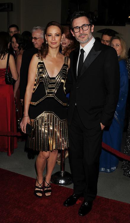 HOLLYWOOD, CA - JANUARY 28: Berenice Bejo and Michel Hazanavicius arrive at the 64th Annual Directors Guild Of America Awards at the Grand Ballroom at Hollywood & Highland Center on January 28, 2012 in Hollywood, California.