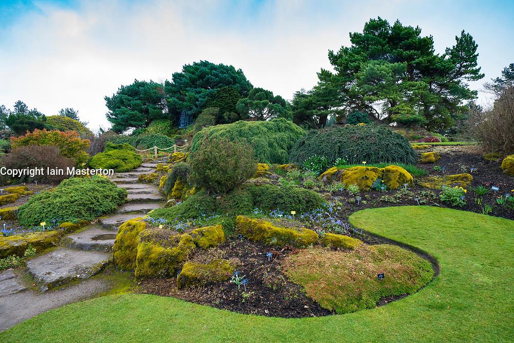 The Rock Garden in Royal Botanic Garden Edinburgh, Scotland ,UK