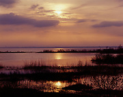 Sunset over Tawas Bay, Tawas Point State Park, Lake Huron, Michigan.