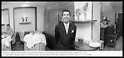 Manager Jean-Claude Breton at Gordon Ramsay's restaurant. Royal Hospital Rd. London. 9/1/99<br /> © Copyright Photograph by Dafydd Jones 66 Stockwell Park Rd. London SW9 0DA Tel 0171 733 0108