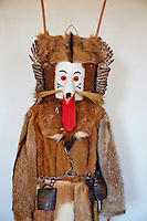 Slovenie, region de Basse-Styrie, Ptuj, ville sur les rives de la Drava (Drave), musee du Chateau, collection de masques de carnaval // Slovenia, Lower Styria Region, Ptuj, town on the Drava River banks, Castle museum, collection of carnival mask