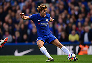 Marcos Alonso of Chelsea in action. Premier league match, Chelsea v Arsenal at Stamford Bridge in London on Sunday 17th September 2017.<br /> pic by Andrew Orchard sports photography.