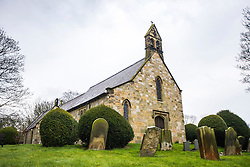 © Licensed to London News Pictures. 03/04/2016. West Heslerton UK. Picture shows the village church in West Heslerton. The quintessential Yorkshire village of West Heslerton is up for sale at a price of £20M. The estate has a 21 bedroom historic hall, 43 houses, a pub, garage, church & playing fields. Former owner Miss Eve Dawnay died five years ago & she left a perfectly preserved village that has been untouched for 50 years. Her family are now selling the estate & hopefull of finding a buyer who will share Miss Dawnay's wish to conserve a bucolic way of life. Photo credit: Andrew McCaren/LNP