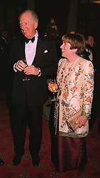 LORD & LADY ROTHSCHILD at a dinner in Berkshire on 19th November 1998.MME 57