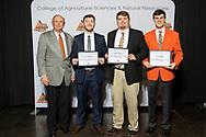 Oklahoma Agribusiness Retailers Association Scholarship, Hudson Horton, Luke Muller and Nathan Herndon