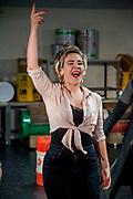 Perspresentatie van de musical The Full Monty<br /> <br /> Op de foto:  Julia Herfst