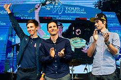 Tadej Pogacar, Jan Polanc and Primoz Roglic during reception of best Slovenian riders after Giro d'Italia 2019 and Tour of California 2019, on June 3rd, 2019, in Mestni trg, Ljubljana, Slovenia. Photo by Vid Ponikvar / Sportida