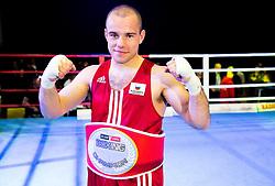 Aljaz Venko of Slovenia, Elite 75 kg Category as best fighter of the evening during Dejan Zavec Boxing Gala event in Laško, on April 21, 2017 in Thermana Lasko, Slovenia. Photo by Vid Ponikvar / Sportida