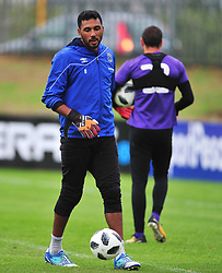 Cape Town--180329 Cape Town City goalkeeper Shu-aib Walters at training preparing for heir Nedbank Cup game against Sundowns on sunday  .Photographer;Phando Jikelo/African News Agency/ANA