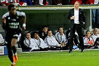 Tippeligaen , <br /> Fotball , <br /> 18.04.2011 , <br /> Fredrikstad Stadion , <br /> Fredrikstad v Rosenborg , <br /> Jan Jönsson roper ut instrukser i sluttminuttene , <br /> Foto: Thomas Andersen