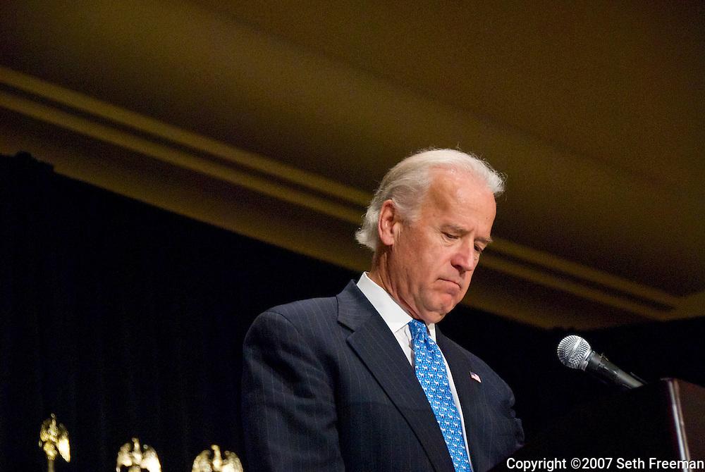 Senator Joe Biden (D-DE) at the Democratic National Committee Meeting, McLean, VA 11/30/07