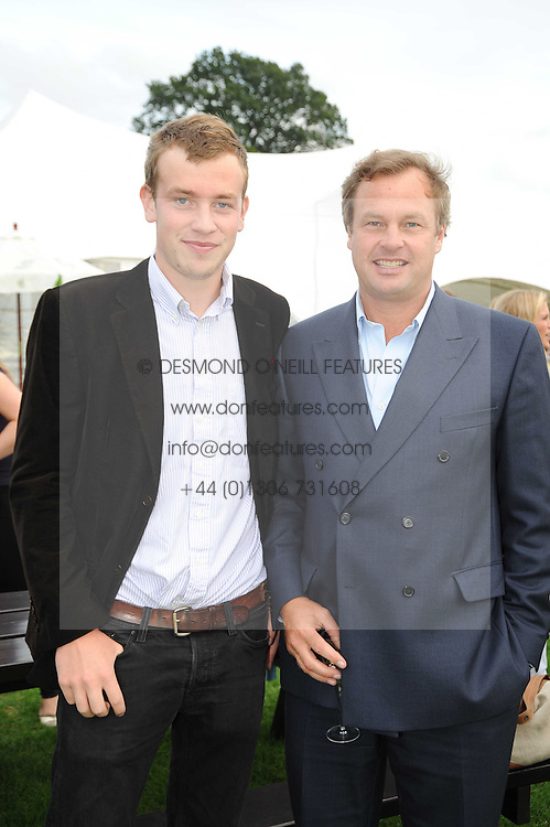 Left to right, the EARL OF MEDINA and his father the MARQUESS OF MILFORD-HAVEN at the 4th Jaeger-LeCoultre Polo Cup in aid of the James Wentworth-Stanly Memorial Fund held at Coworth Park, Ascot, Berkshire on 10th September 2010.