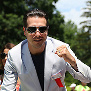 CANASTOTA, NY - JUNE 14: Actor and grand marshal Jon Seda poses during the parade at the International Boxing Hall of Fame induction Weekend of Champions events on June 14, 2015 in Canastota, New York. (Photo by Alex Menendez/Getty Images) *** Local Caption *** Jon Seda