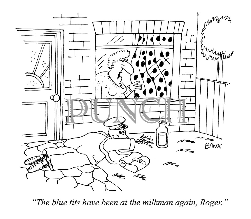 """""""The blue tits have been at the milkman again, Roger."""""""
