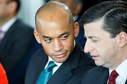 © Licensed to London News Pictures. 27/03/2015. LONDON, UK. Chuka Umunna attending to the launch of Labour's 2015 General Election campaign at Orbit, Queen Elizabeth Olympic Park in London on Friday, 27 March 2015. Photo credit : Tolga Akmen/LNP