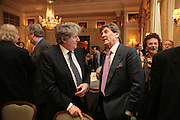 Tom Conti and Melvyn Bragg, Oldie of the Year Awards. Simpsons-in-the-Strand. London. 13 March 2007.  -DO NOT ARCHIVE-© Copyright Photograph by Dafydd Jones. 248 Clapham Rd. London SW9 0PZ. Tel 0207 820 0771. www.dafjones.com.