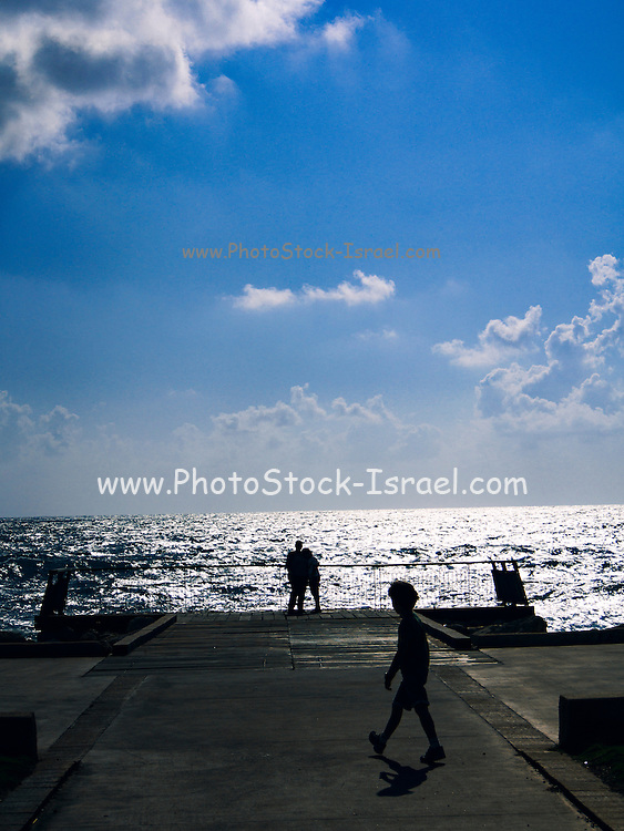 Looking out to the Mediterranean Sea from Jaffa, Israel