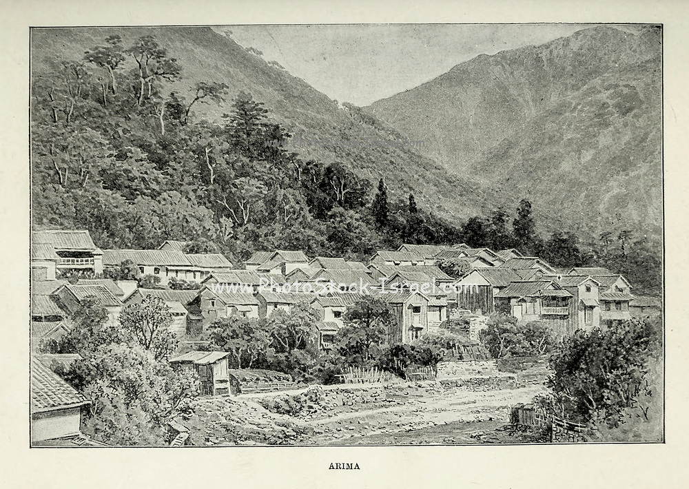 Arima [Arima Onsen in Kita-ku, Kobe, Japan] from the book ' Rambles in Japan : the land of the rising sun ' by Tristram, H. B. (Henry Baker), 1822-1906. Publication date 1895. Publisher New York : Revell