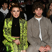 Victoria Brown and Eyal Booker attend the Indonesian Fashion Showcase - Jera at Fashion Scout London Fashion Week AW19 on 16 Feb 2019, at Freemasons' Hall, London, UK.