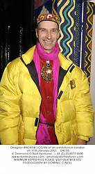 Designer ANDREW LOGAN at an exhibition in London on 11th January 2001.OKI 35