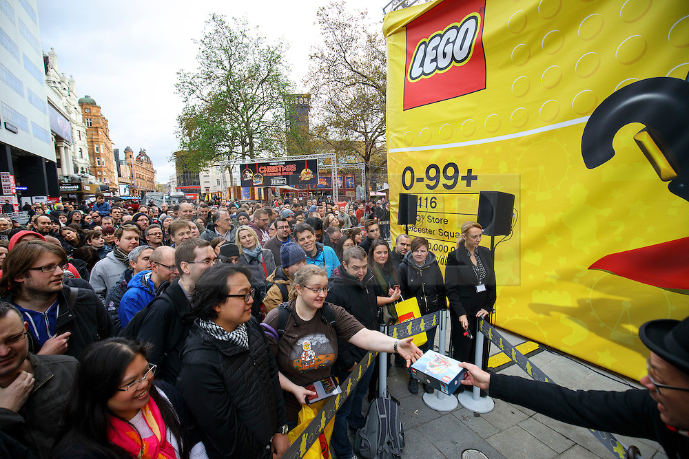 © Licensed to London News Pictures. 17/11/2016. London, UK. Lego fans queue for the world's largest Lego Store to be opened in Leicester Square, London on 17 November 2016. Photo credit: Tolga Akmen/LNP
