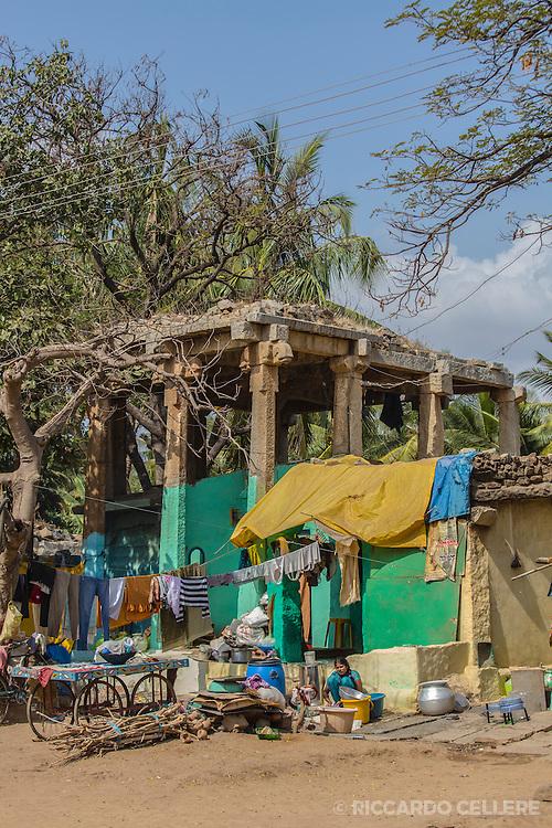 Hampi homes under the ancient ruins