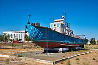 Ouzbekistan, region de Karakalpakstan, mer d'Aral, Moynaq, musée de la mer d'Aral // Uzbekistan, Karakalpakstan province, Aral sea, Moynaq, Aral sea museum