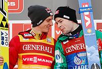 Hopp<br /> FIS World Cup<br /> Garmisch Partenkirchen Tyskland<br /> 01.01.2013<br /> Foto: Gepa/Digitalsport<br /> NORWAY ONLY<br /> <br /> FIS Weltcup der Herren, Vierschanzen-Tournee. Bild zeigt Gregor Schlierenzauer (AUT) und Anders Jacobsen (NOR).