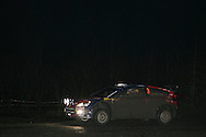 Action from the Wales Rally GB 2008. Stage under darkness at the Walters Arena nr Glynneath,South Wales on Friday 5th Dec 2008..Dani Sordo/Marc Marti in their Citroen Total WRT car.