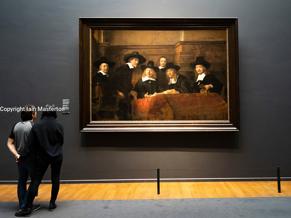 The Wardens of the Amsterdam Drapers' Guild, Known as 'The Syndics', Rembrandt van Rijn,