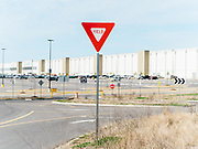 BESSEMER, AL – JANUARY 29, 2021: A view of the Amazon BHM1 fulfillment center, where union member organizers from the Retail, Wholesale and Department Store Union have been rallying workers to unionize. CREDIT: Bob Miller for The Wall Street Journal<br /> AMAZONUNION