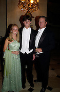 Michelle Lafitte, Ryan Lafitte and father Gregg Lafitte, Ball at Blenheim Palace in aid of the Red Cross, Woodstock, 26 June 2004. SUPPLIED FOR ONE-TIME USE ONLY-DO NOT ARCHIVE. © Copyright Photograph by Dafydd Jones 66 Stockwell Park Rd. London SW9 0DA Tel 020 7733 0108 www.dafjones.com