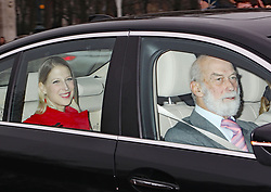 Prince Michael of Kent and his daughter Gabriella of Windsor arriving for the Queen's Christmas lunch at Buckingham Palace, London.