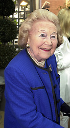 MRS BETTY KENWARD, former Harpers & Queen Jennifer's<br />  Diary writer, at a party in London on 18th May 2000.OEI 73