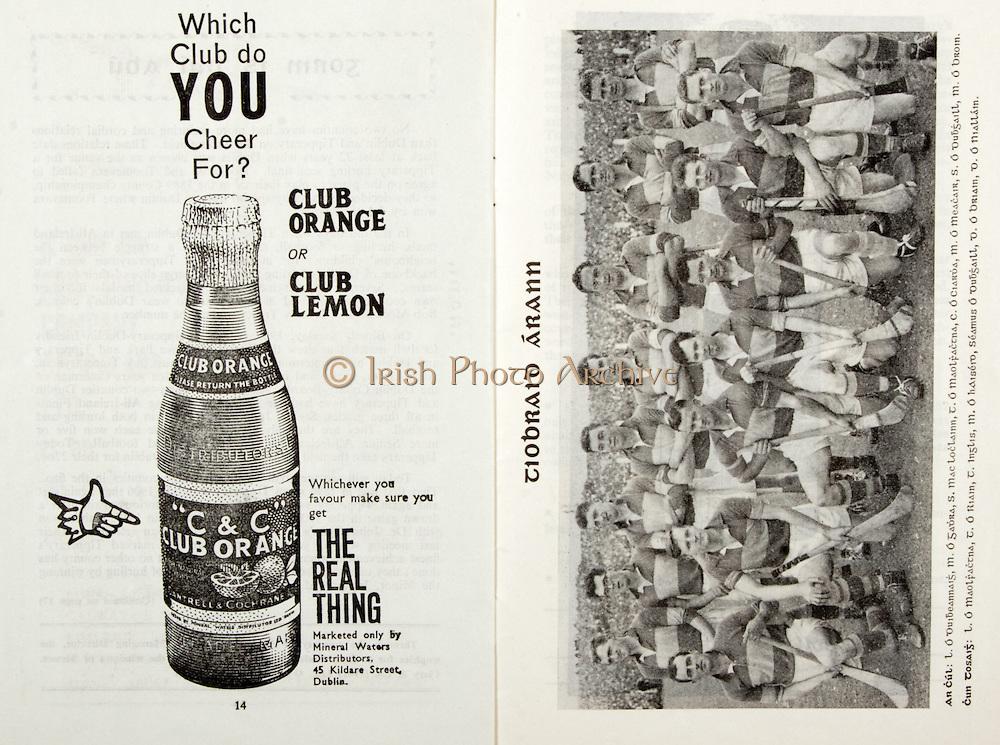 All Ireland Senior Hurling Championship Final,.03.09.1961, 09.03.1961, 3rd September 1961,.Minor Tipperary v Kilkenny, .Senior Dublin v Tipperary, Tipperary 0-16 Dublin 1-12,..C & C, The real thing, .45 Kildare Street Dublin,
